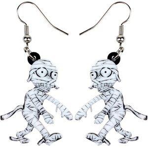 Mummy Acrylic Earrings Halloween